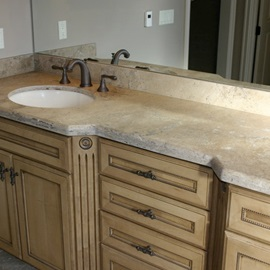 4 inch travertine backsplash